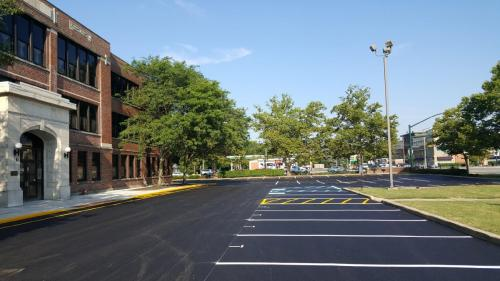 Parking Area with parking lot striping