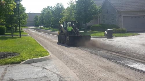 Access Road Building, Asphalt Paving