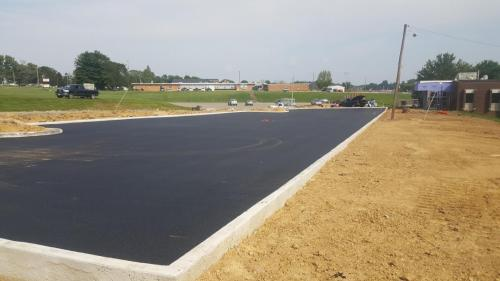 Paved Commercial Parking Lot